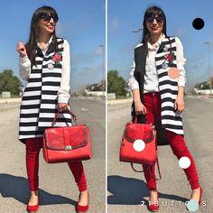 Más guapa que un sol nuestra amiga Veronica de @stardivarius_blog. zapatos piel 6290 marca @KLZ bolso o mochila rojo