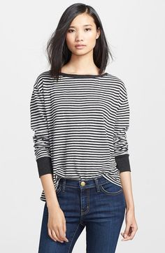 Enza Costa Stripe Cotton & Cashmere Tee available at #Nordstrom