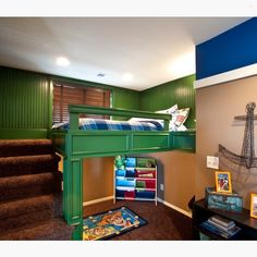 Such a unique bedCredit to Legacy Custom Homes, LLC... - Home Decor For Kids And Interior Design Ideas for Children, Toddler Room Ideas For Boys And Girls