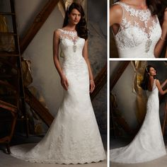 WE108 2013 Halter Top Beach Alibaba Lace Open Back Mermaid Wedding Dress $160.00