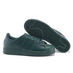 98908e225559d Uomo Donna Adidas Originals Superstar Supercolor PHARRELL WILLIAMS Scarpe  Verde S83396