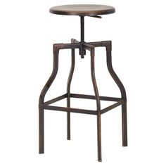 Inspired by architects' drafting stools, this chic design is crafted of steel and showcases an adjustable-height seat.   Product: Sto...