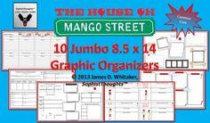 House on Mango Street Jumbo Graphic Organizers 8.5x14 -- 10 Stunning Pages!