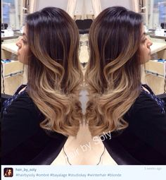 Blonde ash ombre dark roots