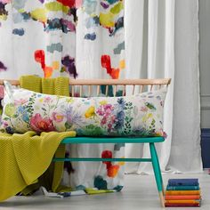 Let the colour in with our abstract fabric Wee Nevis, ideal for curtain making & upholstery with a feel good design from Scottish design company bluebellgray. Textile Design, Fabric Design, Bluebellgray, Beautiful Curtains, Pastel Colors, Pastels, Colours, Interior Design Studio, Outdoor Fabric