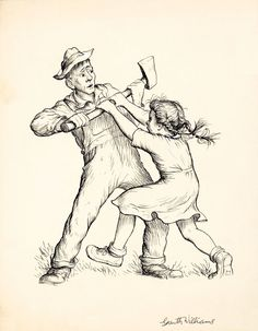 """Fern the farmer's daughter fights for the life of Wilbur, the runt piglet. Fern, brave enough to stand up to the adults to see justice done, was one of my first Favorite Fictional Heroines.     From the famous book """"Charlotte's Web,"""" by E.B. White and illustrated by Garth Williams."""