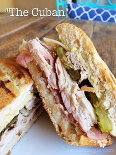 Oh man these are so good!  Cuban Sandwiches