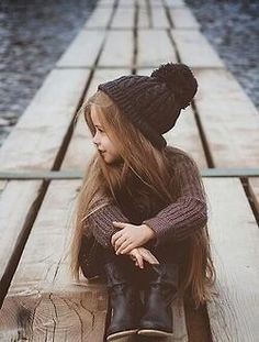 A little girl with long beautiful hair! Love!