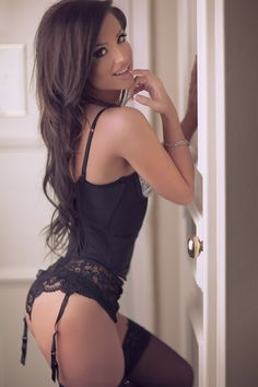 Little Brunette Teen In Hot Lingerie