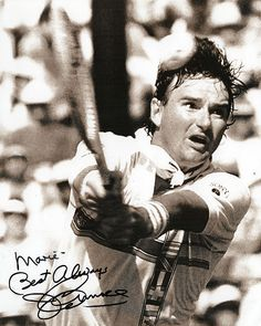 Collectible Tennis Legend Jimmy Connors Autographed Inscribed Hand Signed Photo 2