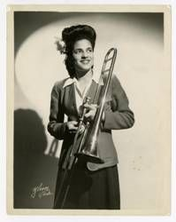 Helen Jones Woods, trombone International Sweethearts of Rhythm Scolds Bridle, Coleman Hawkins, Creighton University, Apollo Theater, Cotton Blossom, Ella Fitzgerald, Jim Crow, Frederick Douglass, Billie Holiday