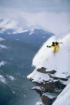 Extreme off-piste skiing