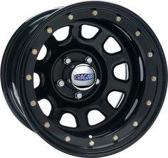 "CRAGAR Series 352 Black Street Lock ""D"" Window Wheel for Jeep® Vehicles with 5x4.5 Bolt Pattern"