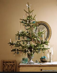 I love small Christmas tress, can help to change an entire theme. Tinsel Tree -- In both Ukrainian and German lore, the tale of the Christmas spider explains the origin of tinsel.