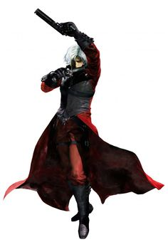 Devil May Cry - Dante always looks like he spinned because of his arms and coat xD