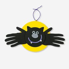 Handprint Bat Craft Kit. Trace each child's hands on the foam and cut out the shapes to make the bat wings! All other pieces are precut. The Handprint Bat Craft Kit makes great Halloween projects for home or in the classroom.