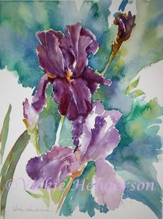 Watercolor Landscapes and Flowers Image Gallery