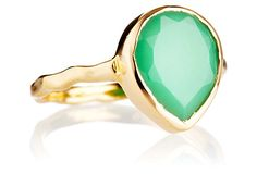 Mini Chrysoprase Teardrop Ring on OneKingsLane.com $59