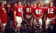 Remember the Titans. Had to watch this at least 30 times before you could even think about graduating. ELLEN BUICE knows what I'm talking about.