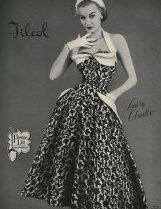 Sunny Harnett in Filcol Lace Halter Neck Dress 1952