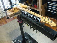 The inside scoop on the neck jig - Strange Guitarworks Guitar Neck, Wine Rack, My Design, Home Decor, Guitars, Photo Illustration, Homemade Home Decor, Interior Design, Home Interiors