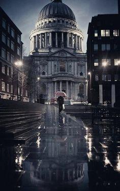 St. Pauls.. and rain, London | by harmonyhalo