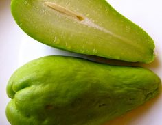 Caribbean Fruits   ... are lots of mysterious fruits and vegetables here in the Caribbean Chayote squash