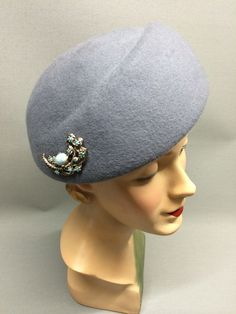The Delores is a distinctively shaped close fitting hat with a elegant romantic feel. Fitted with a petersham ribbon on the inside for comfort and creatively adorned with a beautiful vintage brooch which compliments the felt colour. Most Romantic, Hopeless Romantic, Colour Colour, Felt Hat, Vintage Brooches, Edinburgh, Headpiece, Compliments, Feather
