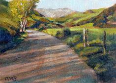 """The Road Less Traveled"" - Original Fine Art for Sale - © Mary Rochelle Burnham"