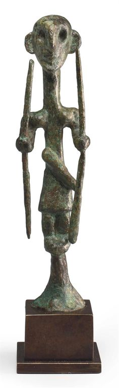 A CANAANITE BRONZE WARRIOR DEITY MIDDLE BRONZE AGE II, CIRCA 1700-1500 B.C.  | Christie's