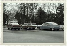 1964 Commuter Train Parking Lot | Flickr - Photo Sharing!