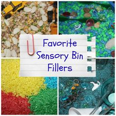 Favorite Sensory Bin Fillers - Little Bins for Little Hands - Not sure what filler to put in your sensory bin?  Check out this mom's list of favorites for ideas!