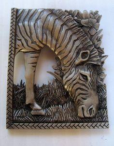 """""""Zebra""""  signed JJ Jonette Jewelry Pin Brooch #sideEffectsNY"""