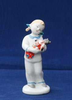Antique Soviet Russian Porcelain Figurine of a Girl designed By G.Stolbova LFZ. | eBay