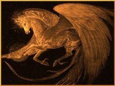 """Pegasus"" by Susan Seddon Boulet, 1982 Magical Creatures, Fantasy Creatures, Beautiful Creatures, Pegasus, Fire Horse, Last Unicorn, Unicorn Art, Winged Horse, Animals Images"