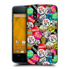 HEAD-CASE-NEW-YORK-FAMOUS-CITY-BUTTON-PIN-BACK-CASE-COVER-FOR-LG-NEXUS-4-E960 Phone Cases, York, Button, City, Cover, Cities, Buttons, Knot, Phone Case