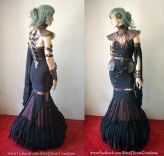 Image of Full Outfit Warrior Queen Steampunk Post Apocallyptic Dress