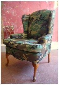 Caitlin - Camo chair! For your formal living room...Your mom would have a cow!!!