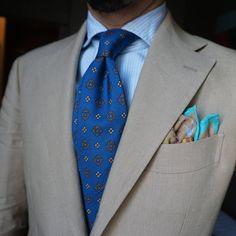 Goooo morning My favorite linen suit