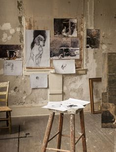 Andrew Wyeth studio, artist studios are the coolest places to visit My Art Studio, Paint Studio, Artist Art, Artist At Work, Studios D'art, Collage Kunst, Artist Aesthetic, First Art, Modern History