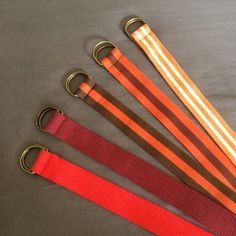 Cotton stripes belts