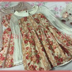 Liz lisa lace-sleeved victorian print #cute #floral #dress