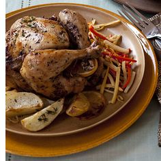 For your next #family meal, make a Lemon-and-Sage Roasted Chicken for what is sure to be a hit among your #loved ones.