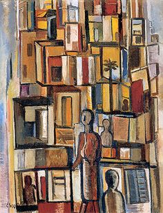 Slum(1954) - Oil on Canvas - Lasar Segall.