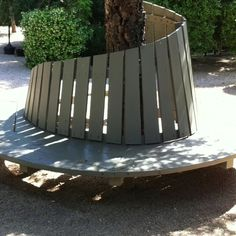 Tree wrap around bench