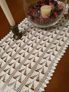 Check out this item in my Etsy shop https://www.etsy.com/listing/515747435/chemin-de-table-rectangle-doily-white