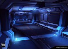 sci fi corridor by pmargacz.deviantart.com on @DeviantArt