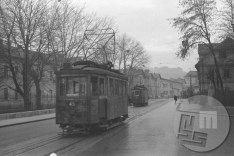 / Today it's already a history, but until 1958 it was a part of everyday lifes of the people of Ljubljana - the tram (photo: Edi Šelhaus). History, Street, People, Life, Historia, Roads, People Illustration
