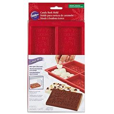 WILTON SILICONE CHRISTMAS MESSAGE CANDY BARK MOLD MAKES 4 BARS AT A TIME NEW!!!!