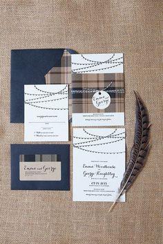 invitaciones para bodas en azul. Luces de cafe. Foto de wicked bride en Flickr.